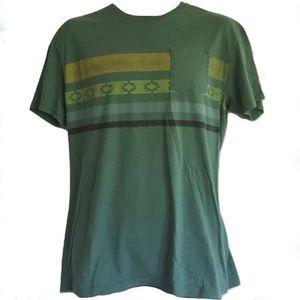Billabong Mens Green Pocket Tee T-shirt Size M